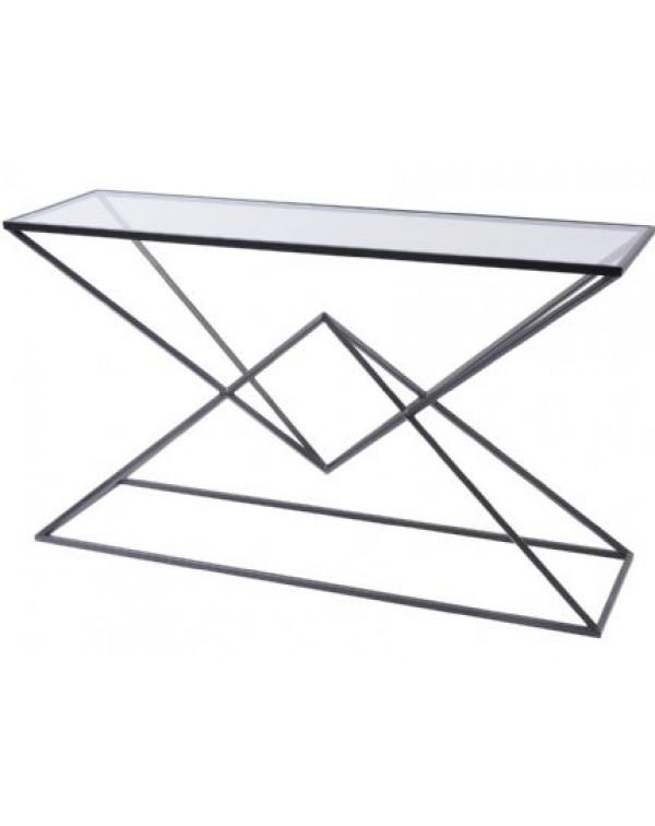 Black Pyramid Console Table